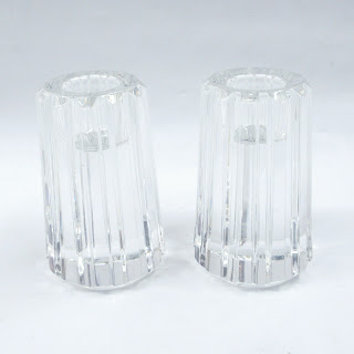 Tiffany & Co. Crystal Candle Holder Pair