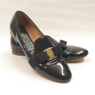 Salvatore Ferragamo Patent Leather Loafers