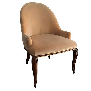 Baker Furniture Velvet Shelter Back Chair
